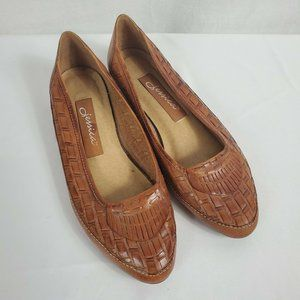 Jessica Women's Slip-on Brown Flat Shoes Size 6.5
